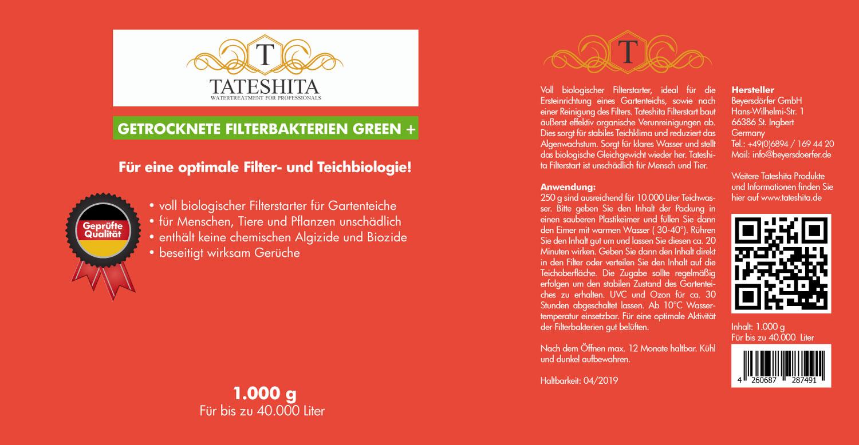 Tateshita getrockenete Filterbakterien Green+ 1kg