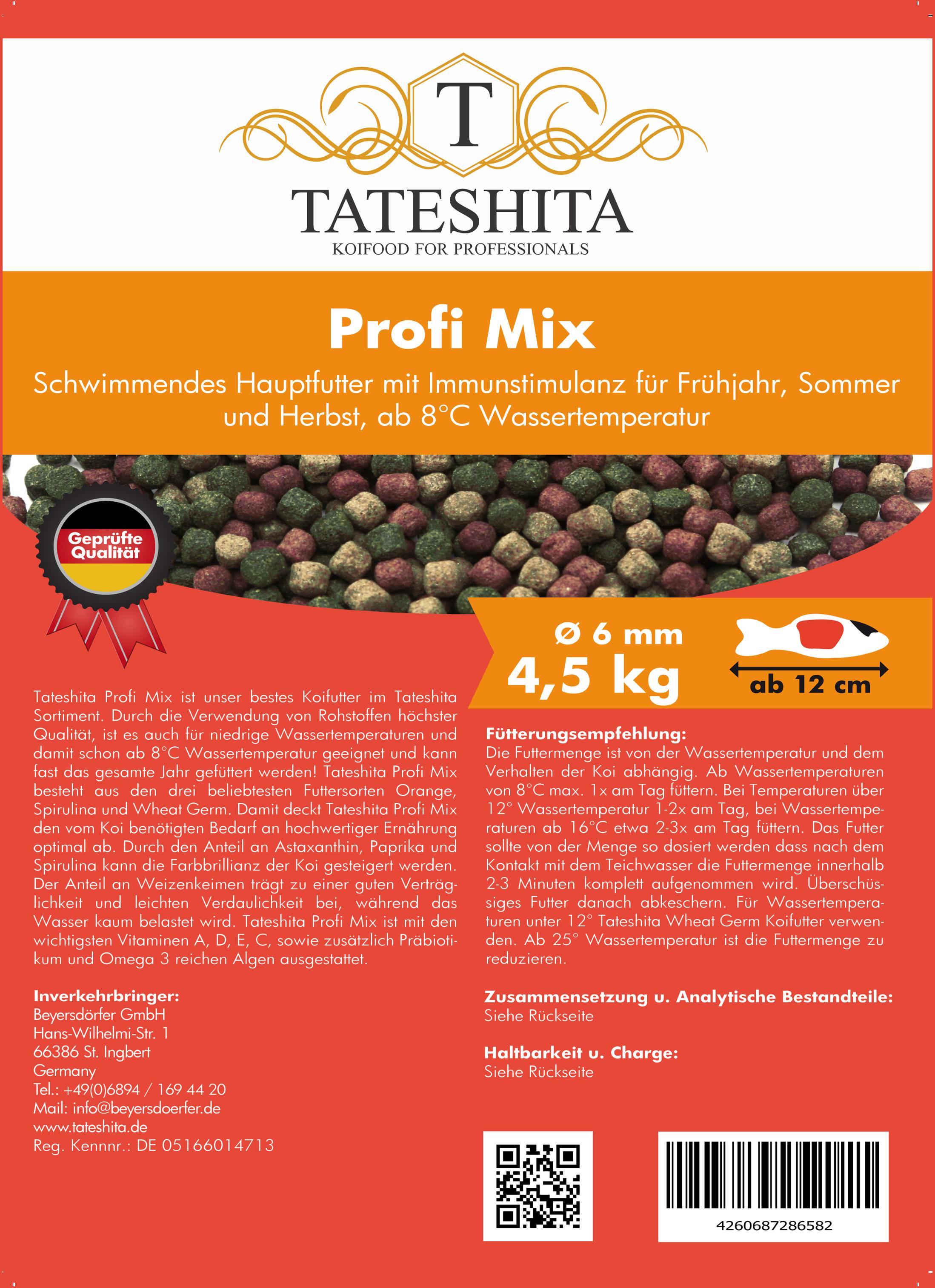Tateshita Profi Mix 4,5 Kg 6 mm