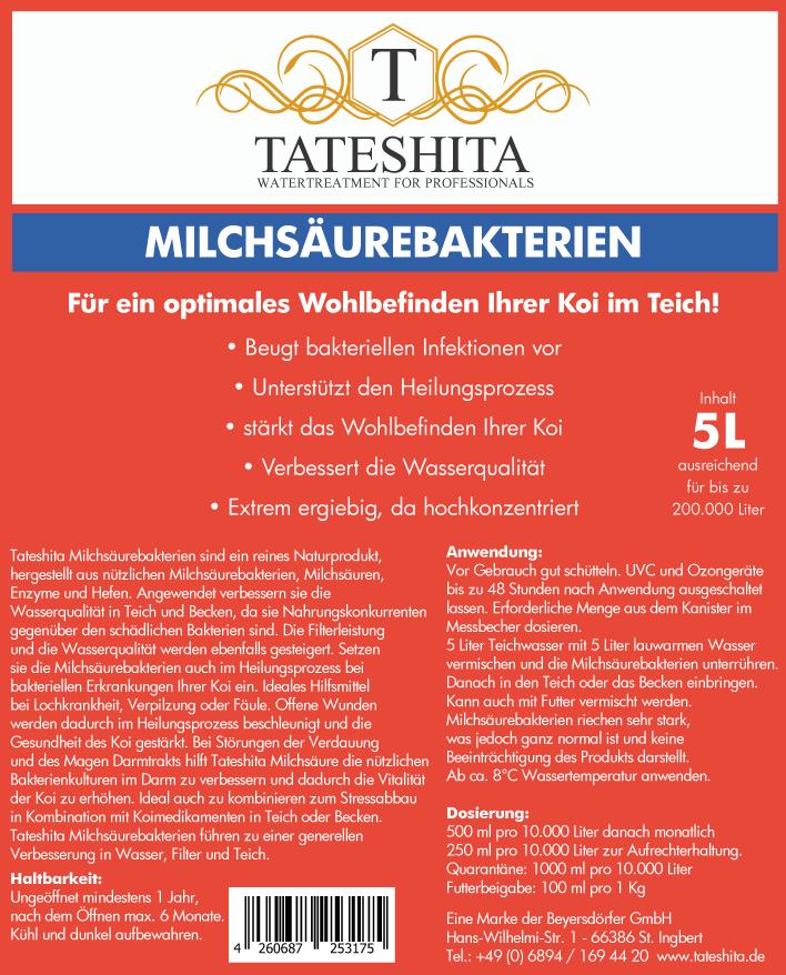Milchsäurebakterien von Tateshita 5 L ehemals Conditop/Pond Support