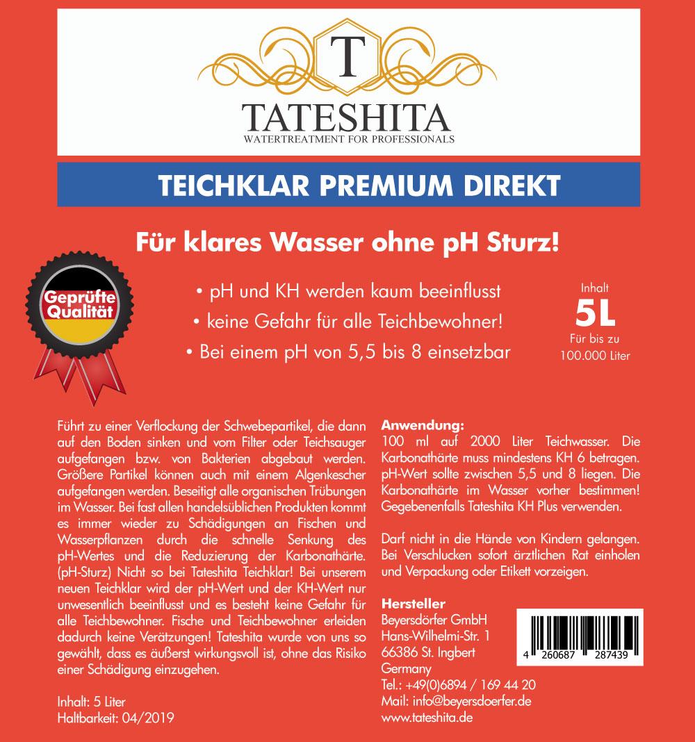 Tateshita Teichklar Premium direkt 5l