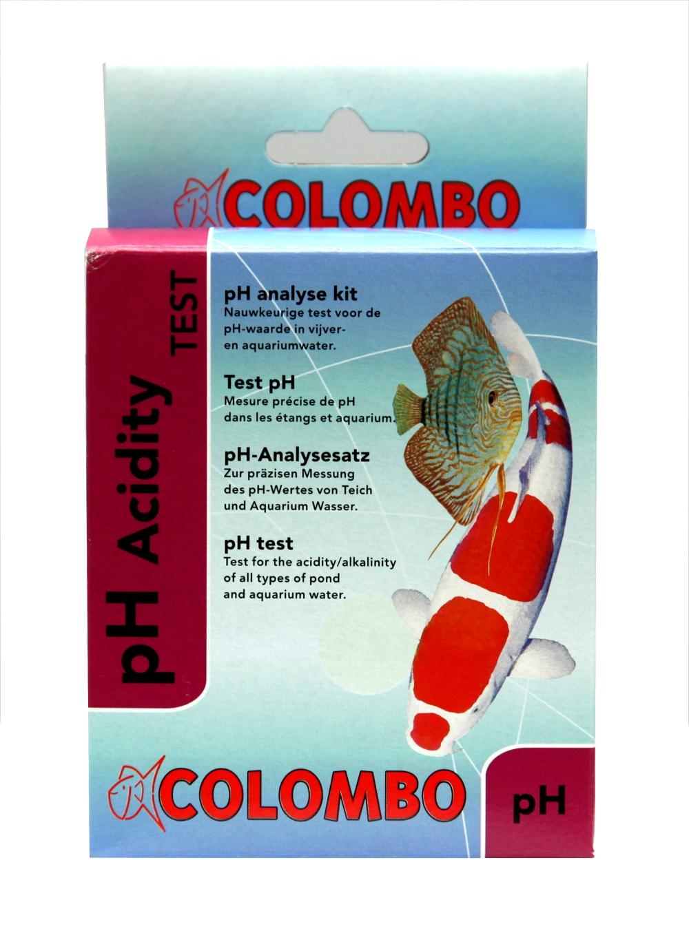 Tröpchentest pH-Wert einzeln, hier am Beispiel der Marke Colombo
