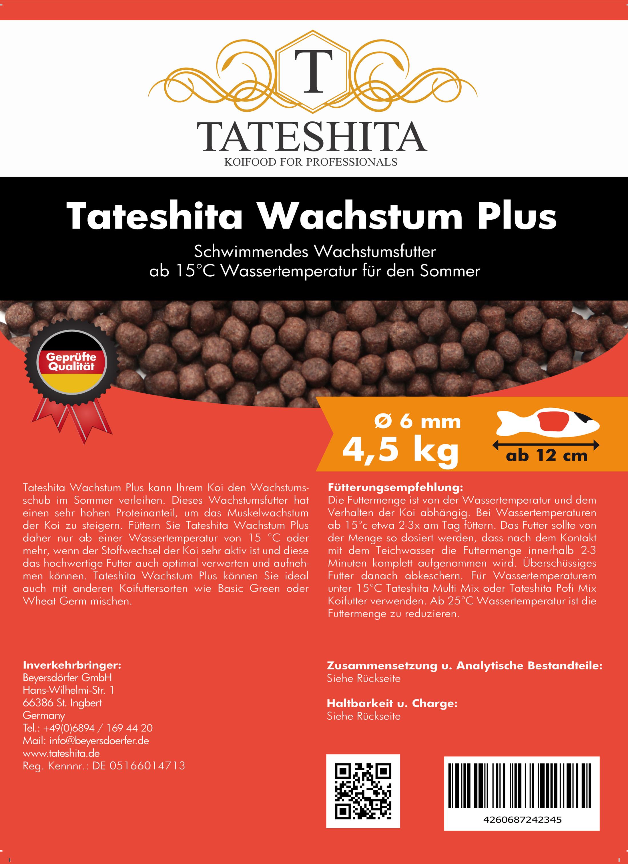 Tateshita Wachstum Plus 4,5 Kg 6 mm