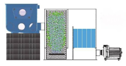 Aquaforte Trommelfilter Biokammer